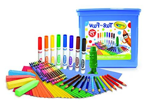 Crayola Tub of Fun, Over 75 Art Tools, Crayons, Markers, Col