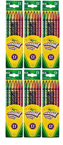 Crayola Twistables Colored Pencils, No Sharpening Needed, 12