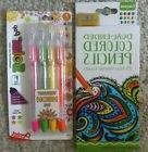 Crayola dual end colored pencils & Pentel neon black light g