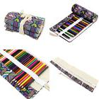 FENICAL Colored Canvas Pencil Case 72 Roll Wrap For Pencils