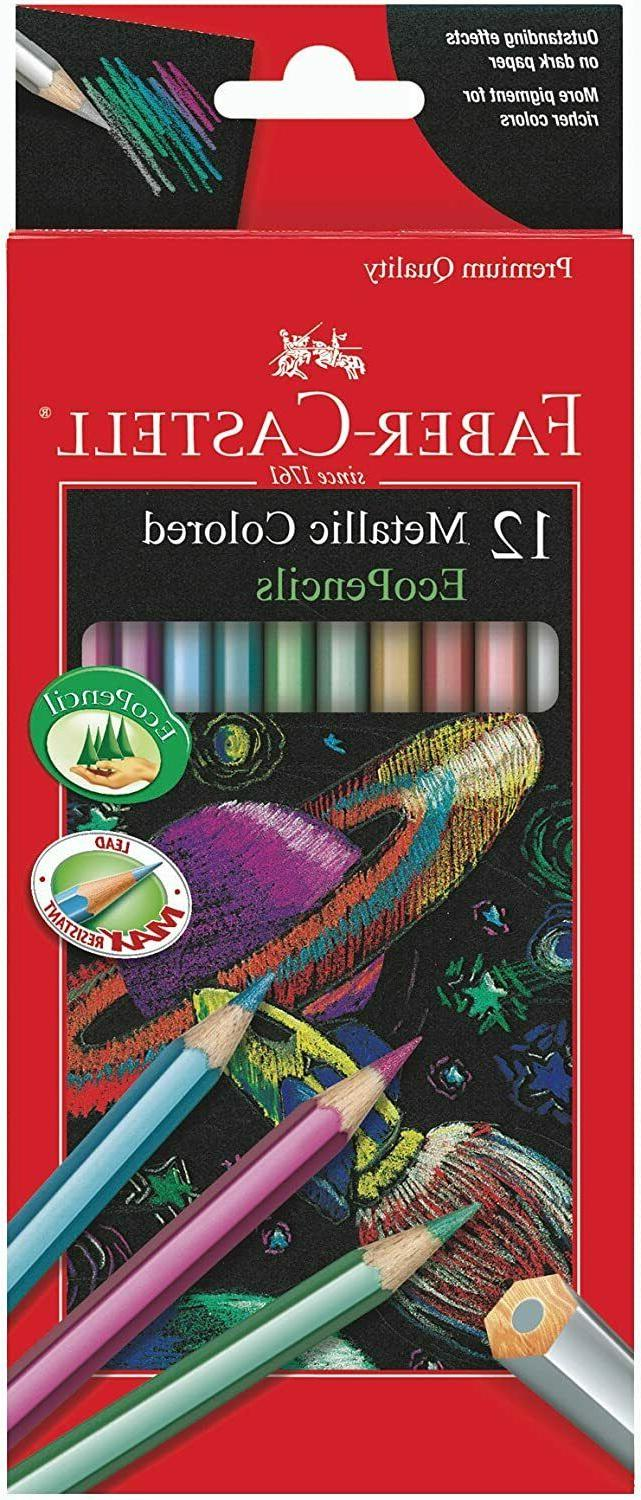 Faber Castell Metallic Colored EcoPencils - 12 Break Resista