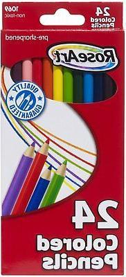 RoseArt Presharpened Colored Pencils - Assorted - 24 per Box