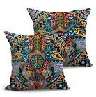 US SELLER-set of 2 Mexican folk art print cushion cover sofa