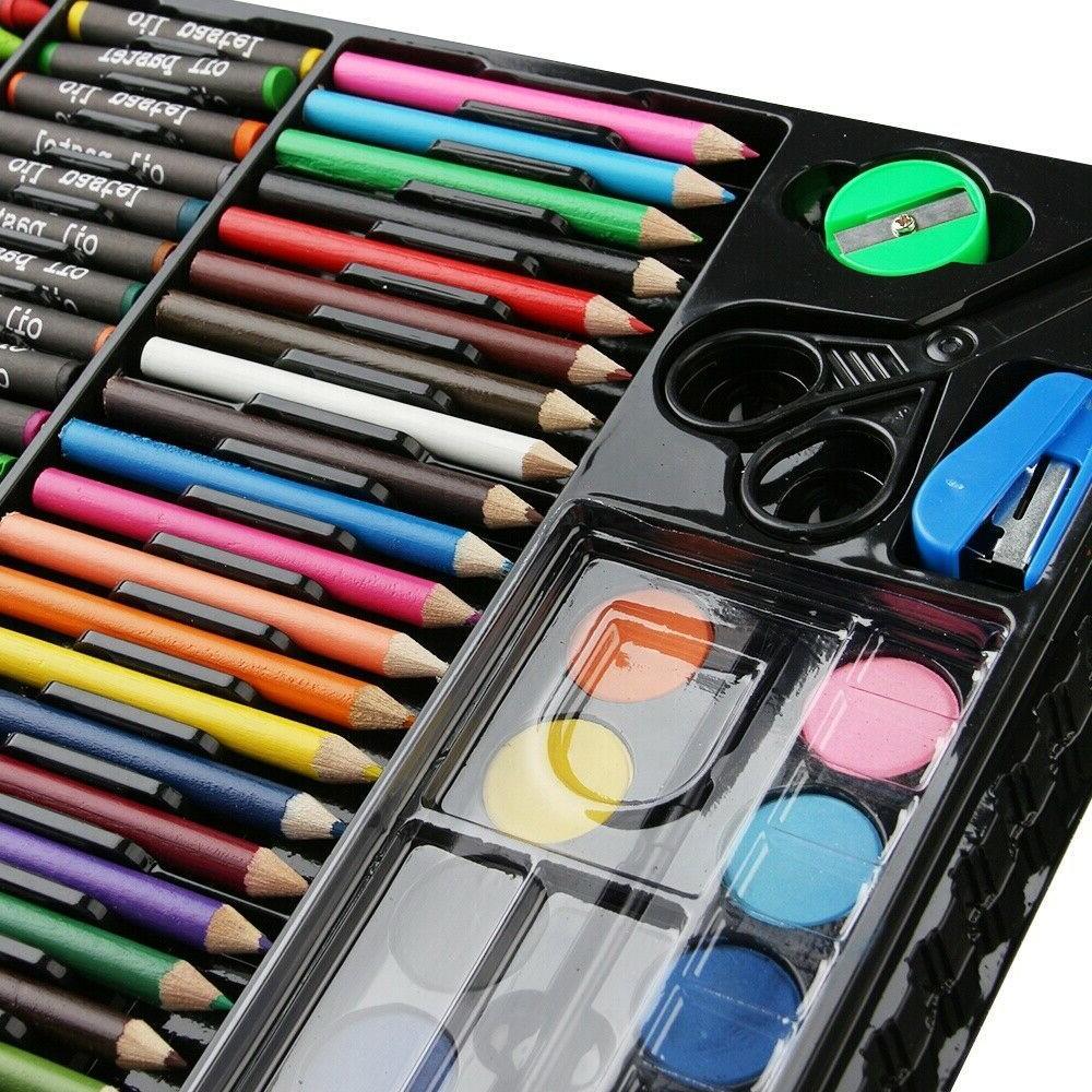 Art Set 150pcs For Kids Teens Drawing Painting Color Pencils Kit Box