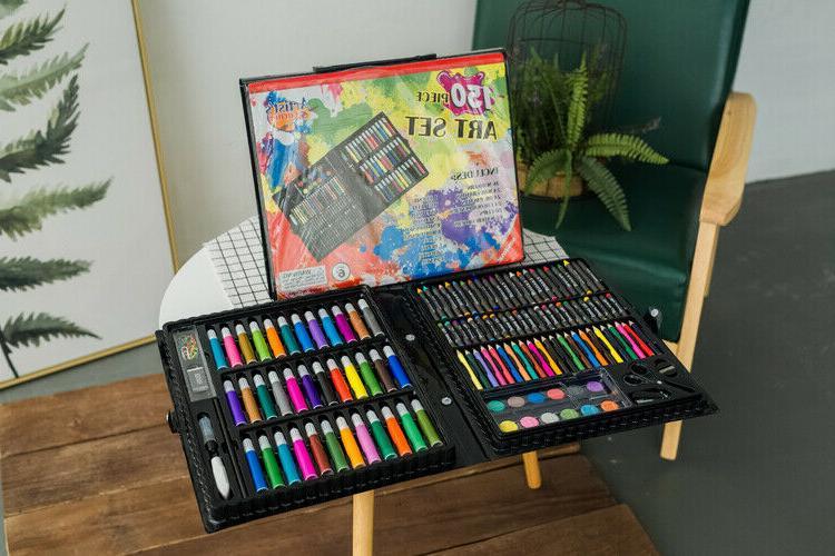Art Kids Teens Drawing Color Pencils Pastels Box