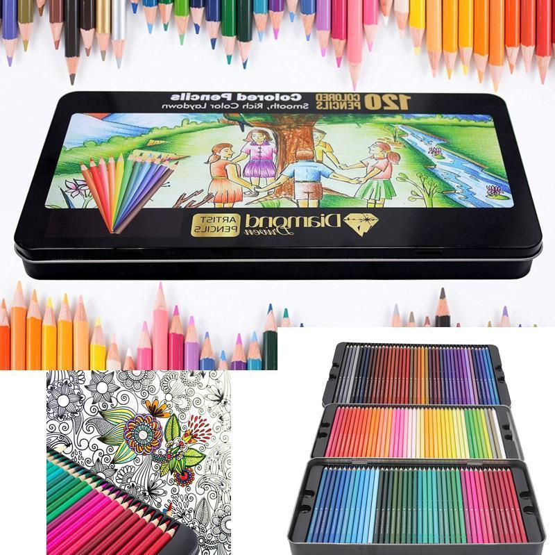 Artists Colored Pencils Diamond Driven #1 120 Premium Soft C