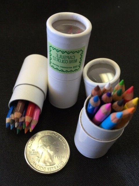 Be-Goody 12 Japanese Miniature Colored Pencils in tube-ONE TUBE SET.