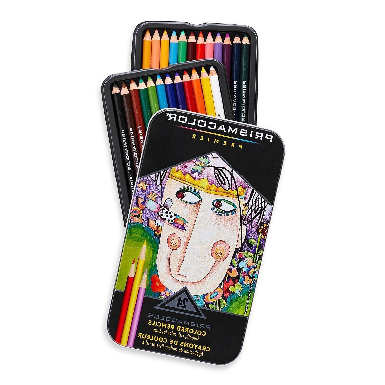 Prismacolor Premier Colored Pencils, Assorted Colors, 24 ...