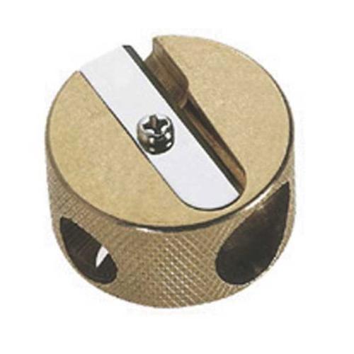 brass round double hole sharpener