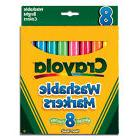 CRAYOLA BS587819   WASHABLE MARKERS BRIGHTS 8 COLORS