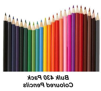 bulk 430 pack colour coloured pencils round