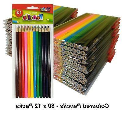 bulk 60 packs x 12 colour pencils