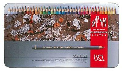 CARAN D'ACHE PABLO PERMANENT COLOURED PENCILS - Tin of 120