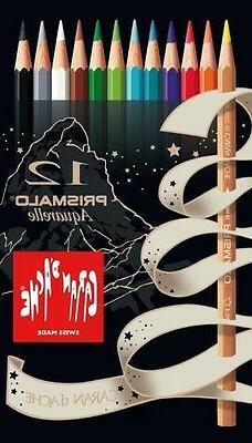 CARAN D'ACHE PRISMALO COLOUR PENCILS - Box of 12 assorted