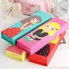 Cartoon Girl Paper Pencil Case Pen Box School Stationery Mak