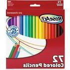 Roseart Classic Colored 72 Count Pencil Writing School Offic