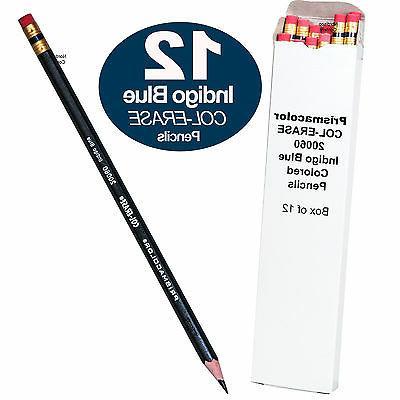Prismacolor Col-Erase Erasable Colored Pencil, Indigo Blue