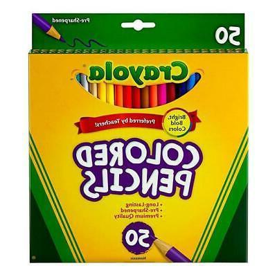color pencils full len assorted color peggable
