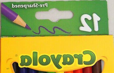 Crayola Pack Lot Of Nontoxic 24 Bright Bold