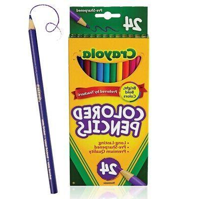 colored pencils 24 color set 24 count