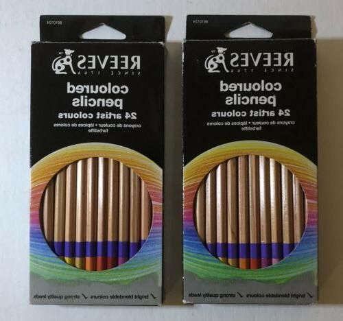 colored pencils 24 new 2 sets