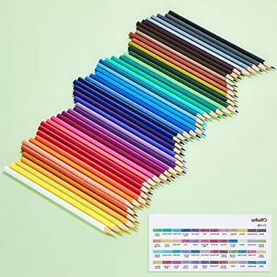 Ohuhu 48 color hexagonal shaft pencil