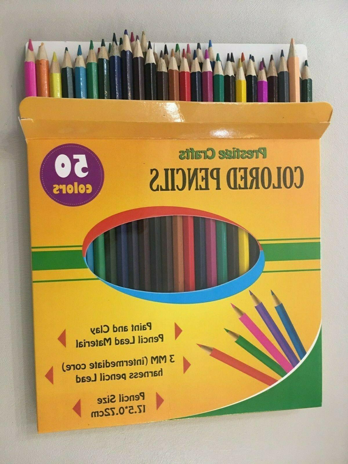 #Colored Pencils 50 pack Total=150 pcs 17,5*0,72cm