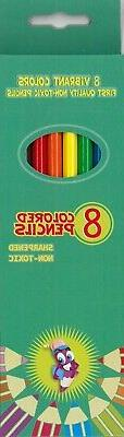 colored pencils 8count case of 48
