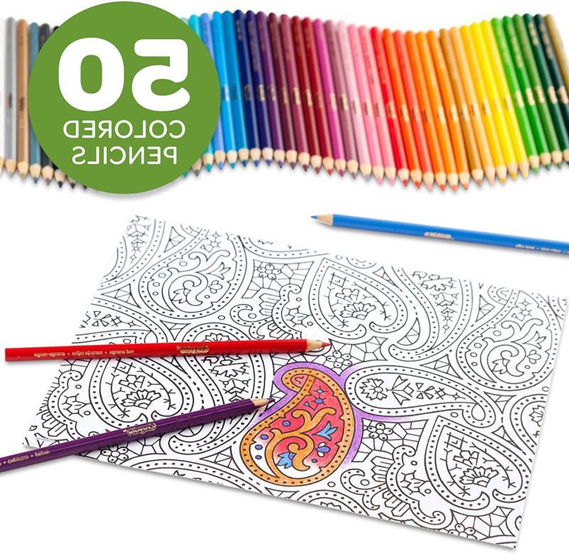 Crayola Pencils, Coloring, Teens, 50 Count