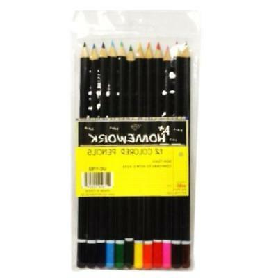 colored pencils assorted colors 12 count case
