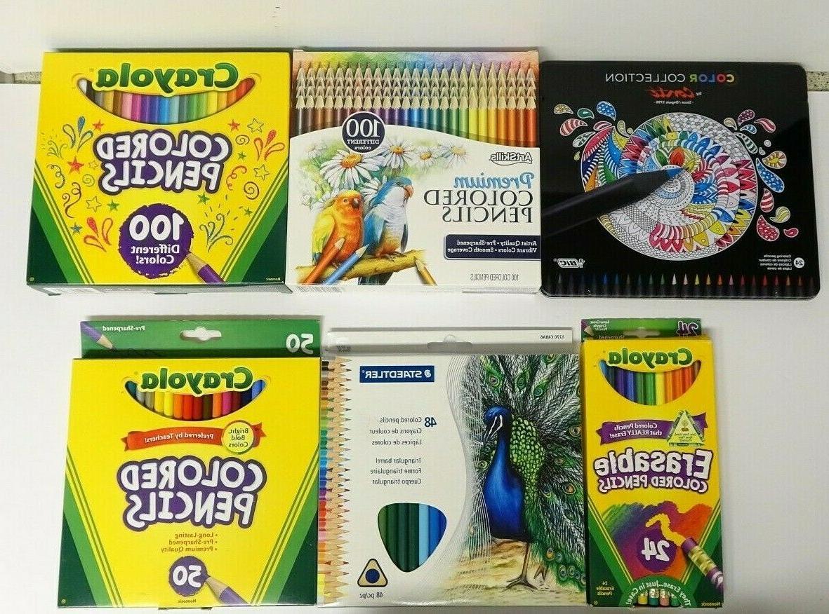 colored pencils lot new art skills conti