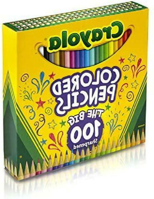 Crayola Colored Coloring Set, 100 Count