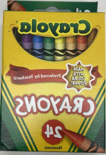 Crayola Colored - Pack of Markers-Pack of 10, Crayons-Pack of 24