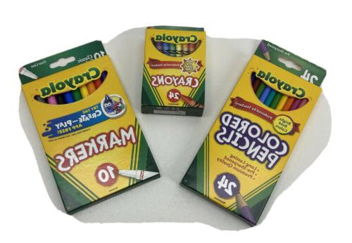 colored pencils pack of 24 markers pack