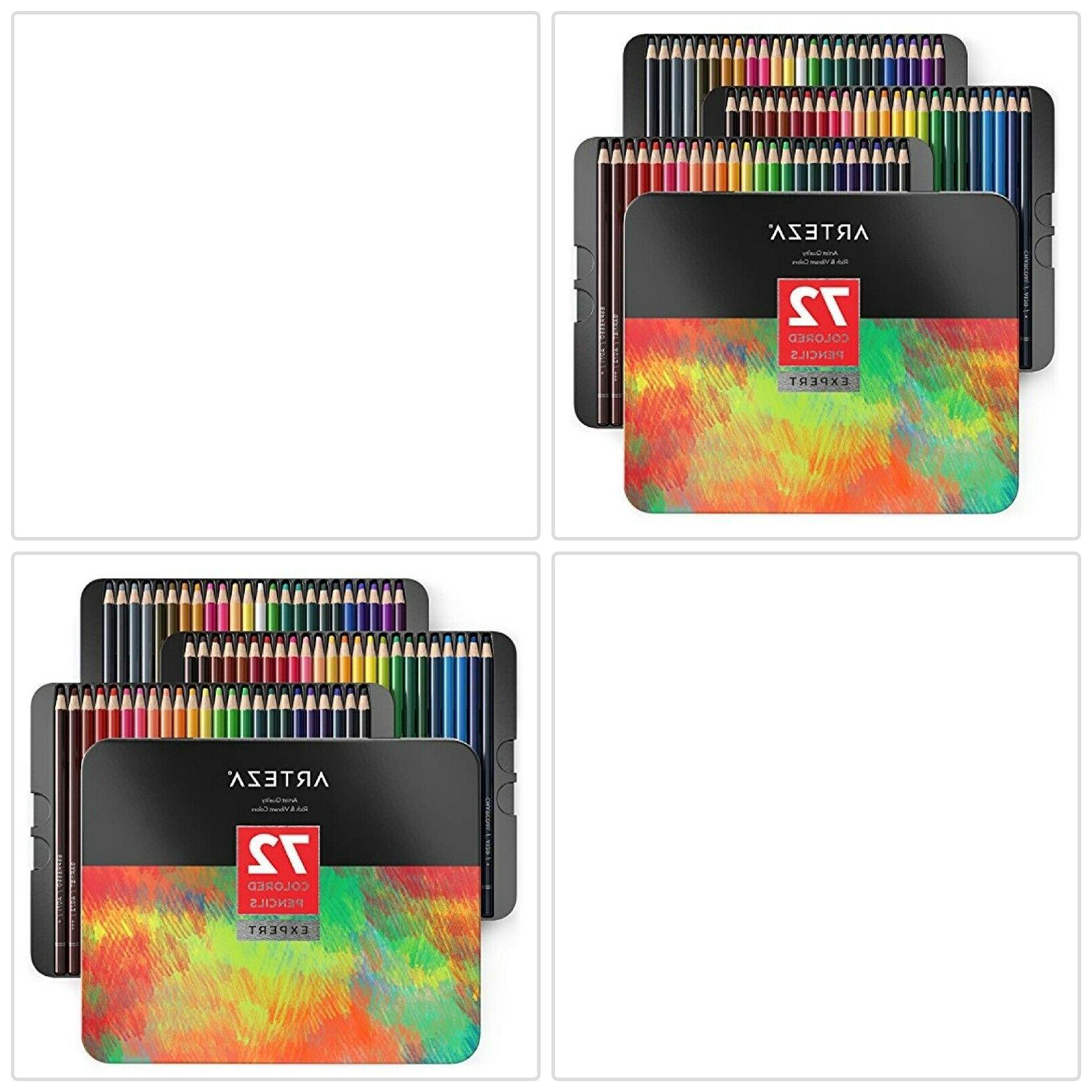 ARTEZA Colored Pencils Professional Set of 72 Colors Soft Wa