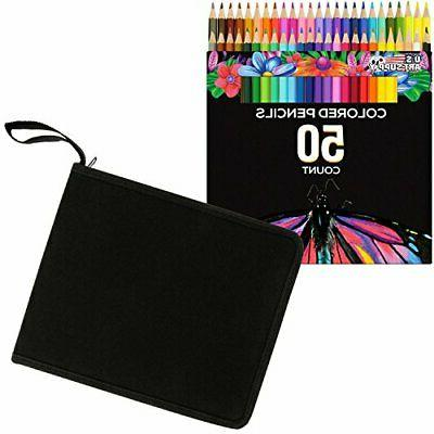 US Art Supply 50 Piece Adult Coloring Book Artist Grade Colo