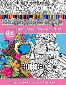 Coloring Books for Grown-ups Day of the Dead Girls : Dia De