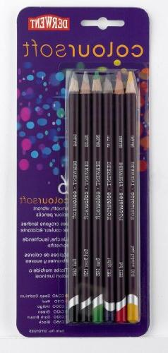 Derwent Colorsoft Pencils, 4.4mm Core, Pack, 6 Count