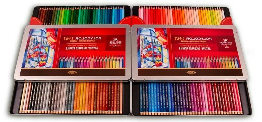 Coloured pencils 144 3828 in 2 metal