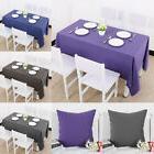 Cotton Linen Tablecloth Table Cover Cushion Pillow Cover Par