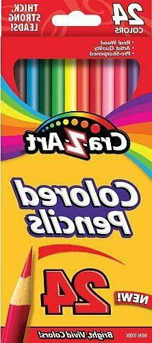 Cra-Z-Art Assorted Colored Pencils Pack - 24 Pack Count Brig