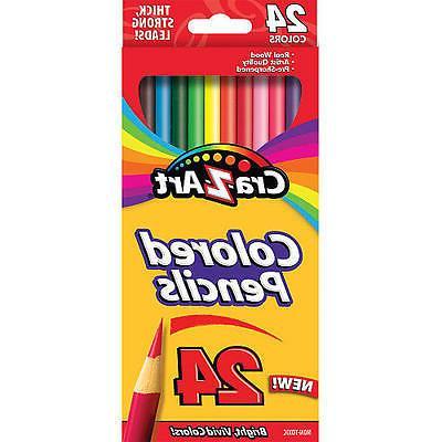 Cra-Z-Art Colored Pencils, pack of 24, Super Bright and Vivi