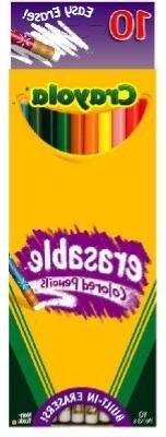 Crayola Erasable Colored Pencils, 10 pencils