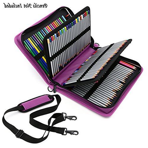 deluxe pu leather pencil case