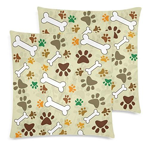 dog paw bone throw cushion