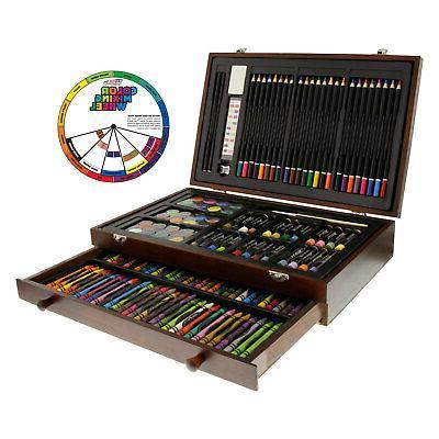 143-Piece Art Drawing Set Artist Sketch Kit Paint Pencil Pas