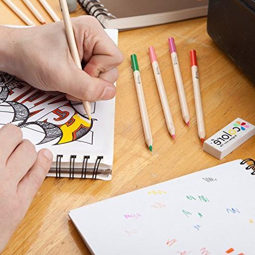 Colore 60 Drawing Pencils - Eraser Sharpener
