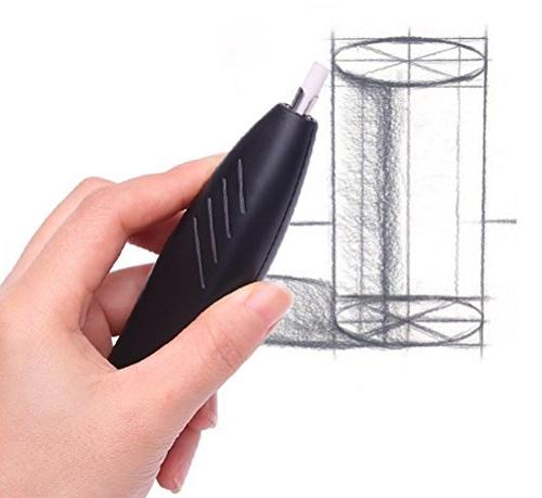 Ohuhu Electric Eraser with 20 Eraser and Eraser Brush, Auto Erasers Drawing, Architectural Arts Crafts,Battery Operated
