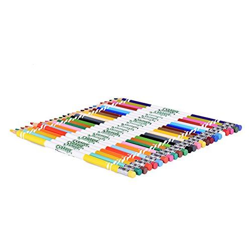 Crayola 24 Non-Toxic, Pre-Sharpened, Erasable Set for Books Kids & Up, Great for Shading, Line &