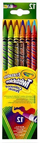 12 Count Crayola Erasable Twistables Colored Pencils